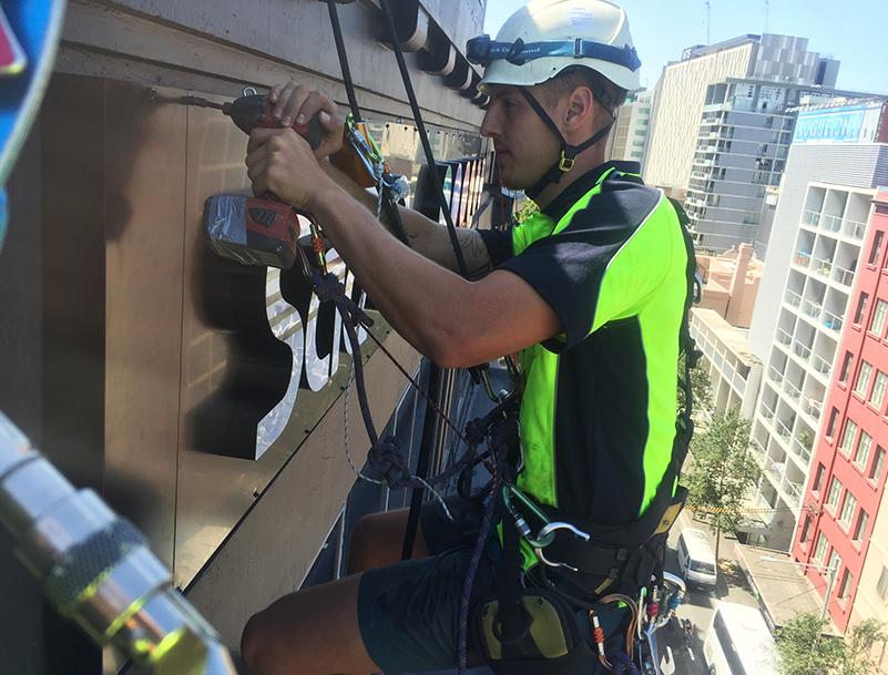 Rope Access Sealing Window - Cladding Sydney - Magellan Company